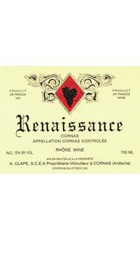 A product image for Auguste Clape Cornas Renaissance