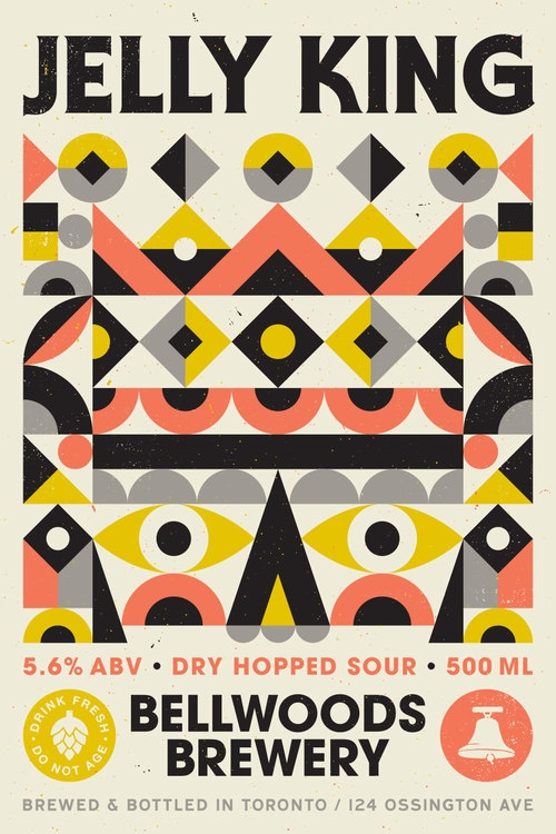 A product image for Bellwoods Jelly King Dry Hopped Sour Ale