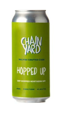A product image for Chainyard Hopped Up Cider