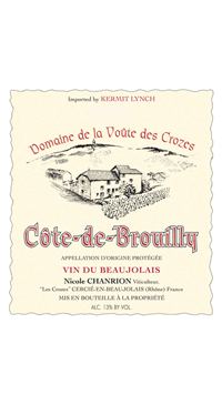 A product image for Chanrion Cote de Brouilly 2004