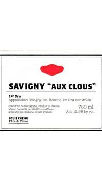 A product image for Domaine Louis Chenu Savigny 1er Cru Aux Clous