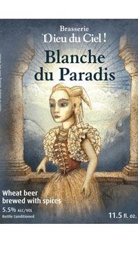 A product image for Dieu du Ciel Blanche du Paradis