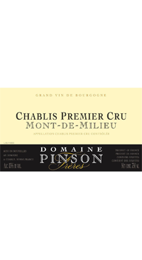 A product image for Domaine Pinson Mont Millieu 1er Cru