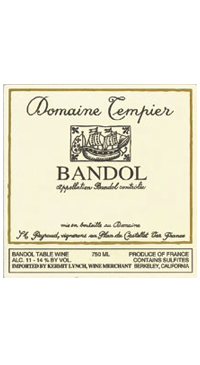 A product image for Domaine Tempier Bandol Rouge