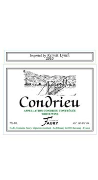 A product image for Faury Condrieu