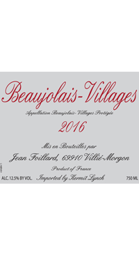 A product image for Jean Foillard Beaujolais Villages