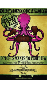 A product image for Great Lakes Brewery Octopus Wants to Fight IPA