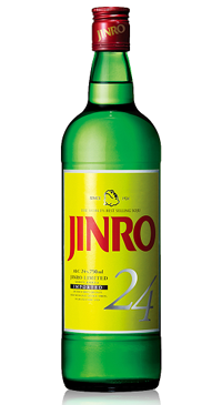 A product image for Jinro 24 Soju