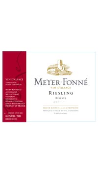 A product image for Meyer Fonne Riesling Reserve