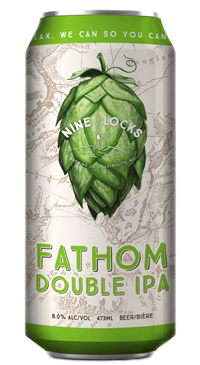 A product image for Nine Locks Fathom Double IPA