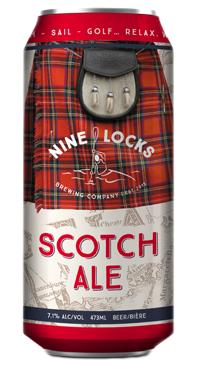 A product image for Nine Locks Scotch Ale