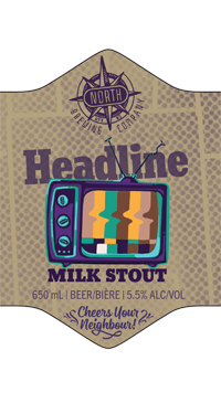 A product image for North Brewing Headline Milk Stout