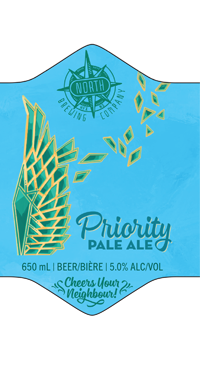 A product image for North Brewing Priority Pale Ale