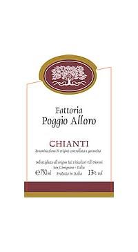 A product image for Poggio Alloro Chianti DOCG