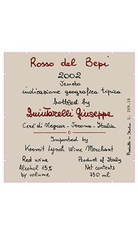 A product image for Quintarelli Rosso Del Bepi