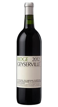 A product image for Ridge Estate Geyserville Zinfandel