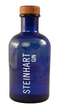 A product image for Steinhart Gin Blue Apothecary Bottle