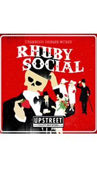 A product image for Upstreet Rhuby Social Strawberry Rhubarb Witbier