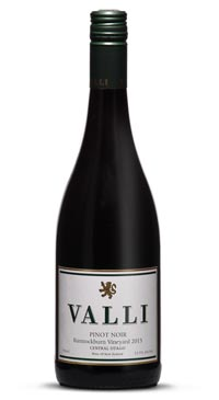 A product image for Valli Bannockburn Pinot Noir