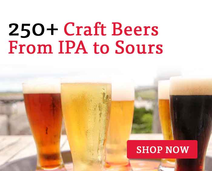 shop our selection of 250+ craft beers