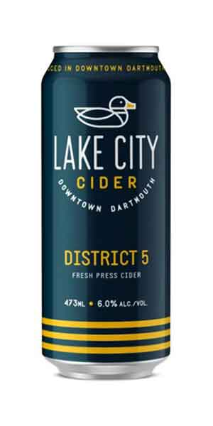 A product image for Lake City District 5 Cider Can