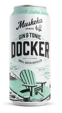 A product image for Muskoka Docker Gin + Tonic