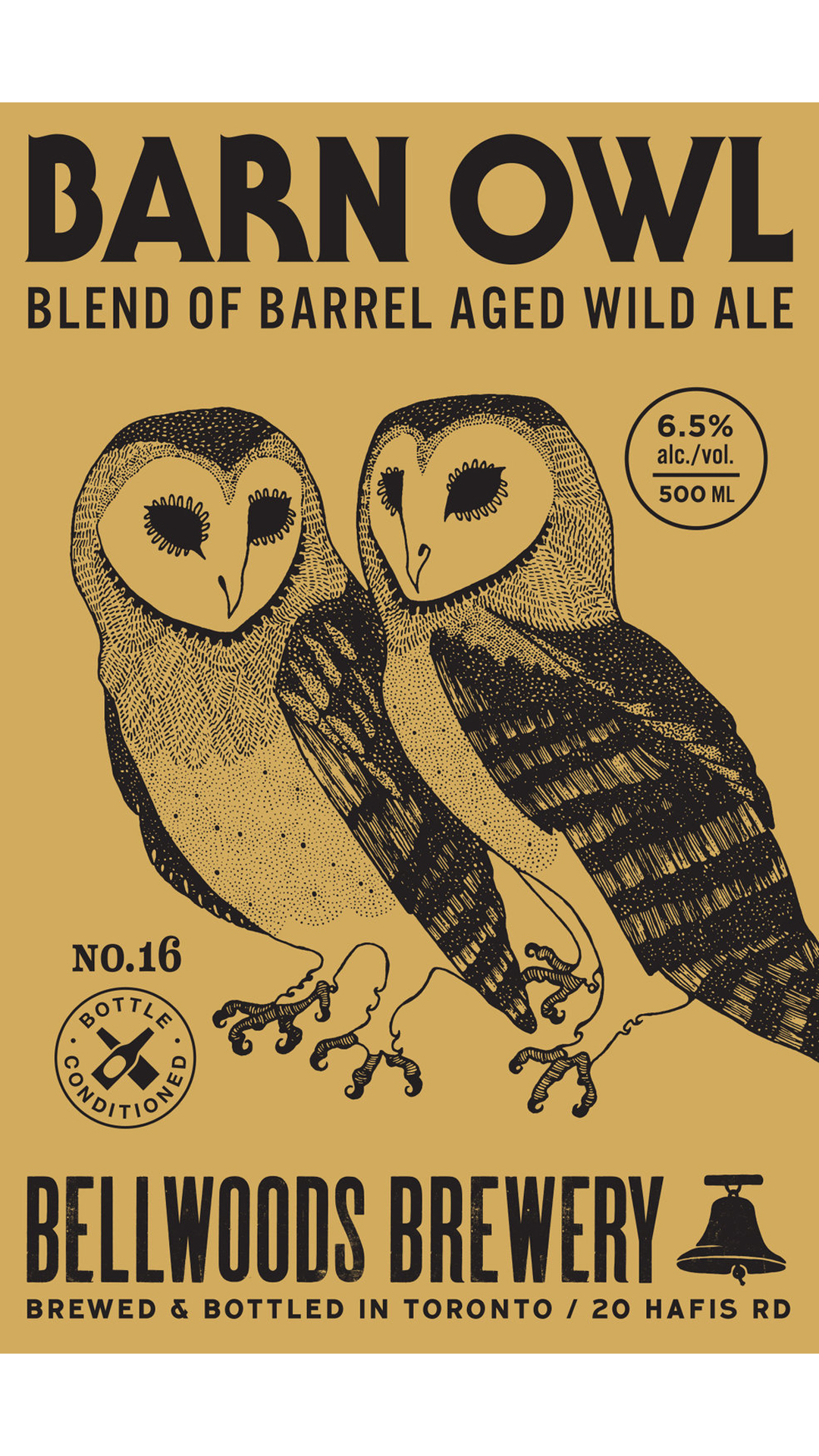 A product image for Bellwoods Barn Owl #16