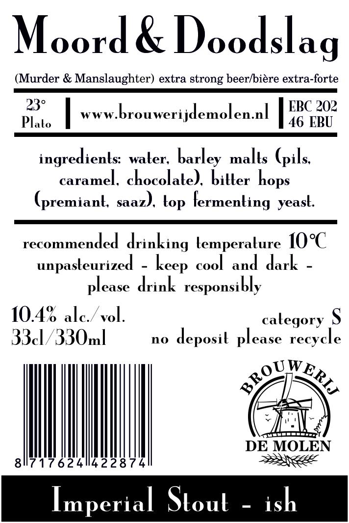 A product image for De Molen Moord & Doodslag