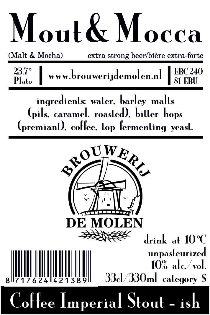 A product image for De Molen Mout & Mocca