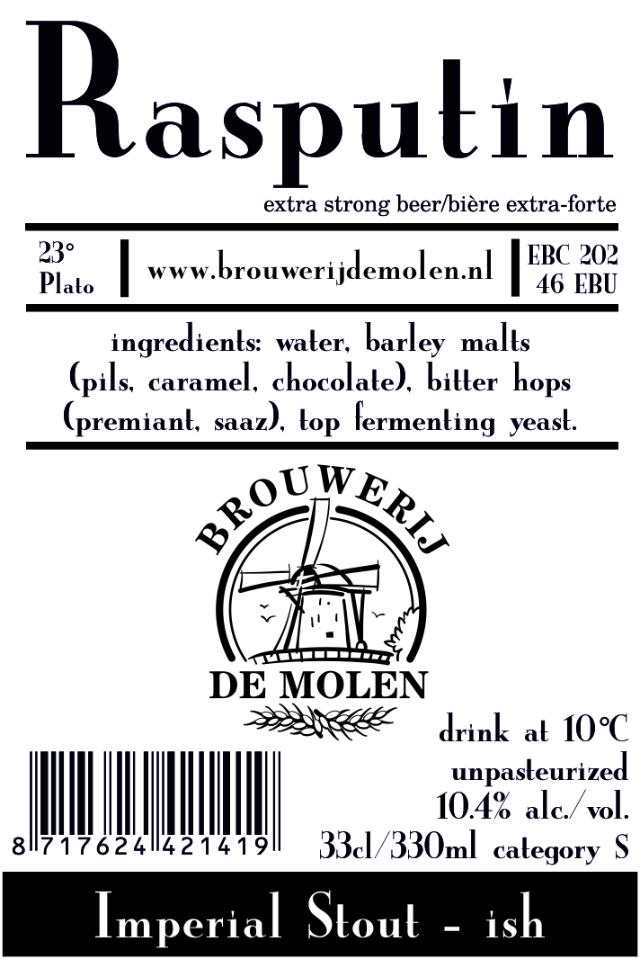 A product image for De Molen Rasputin