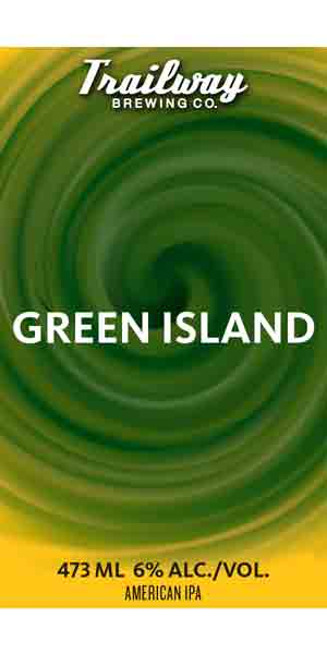 A product image for Trailway Green Island IPA