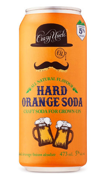A product image for Crazy Uncle Hard Orange Soda