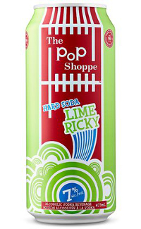 A product image for Pop Shoppe Hard Lime Ricky