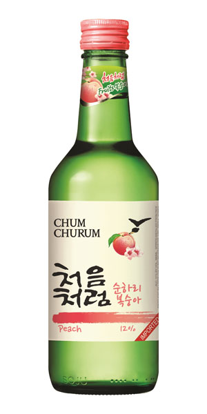 A product image for Chum Churum Peach Soju