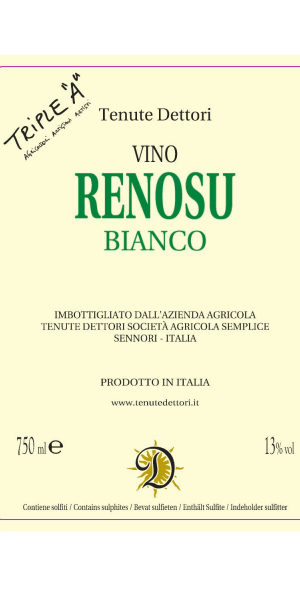 A product image for Dettori Renosu Bianco