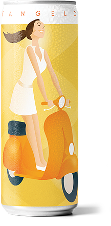 A product image for Venerdi Tangelo Italian Seltzer- 4 pack