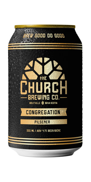 A product image for Church Congregation Pilsner – 6pk