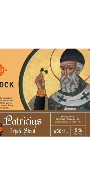A product image for Boxing Rock Patricius Irish Stout