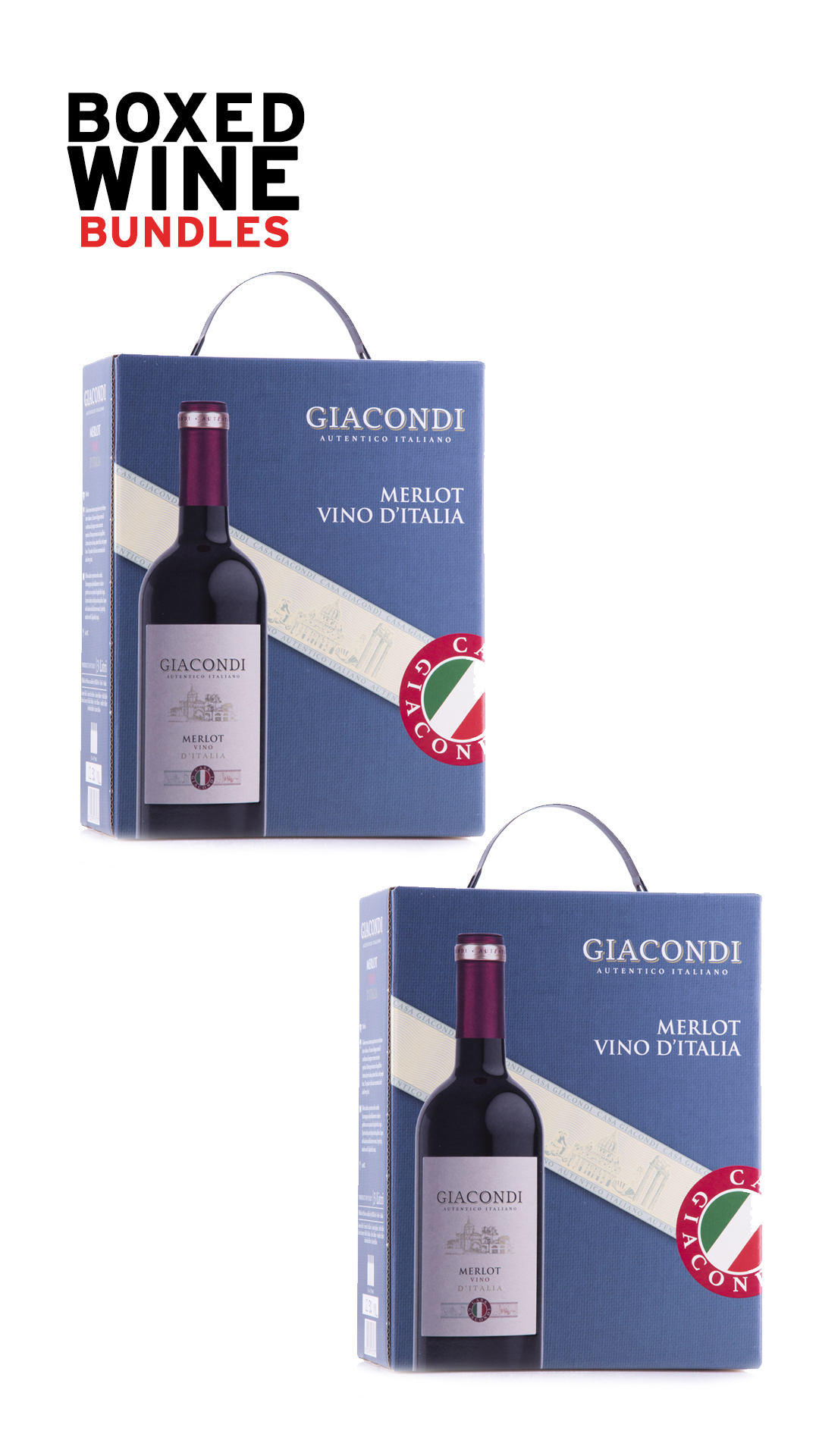 A product image for Giacondi Merlot Bundle- Includes two 3L boxes