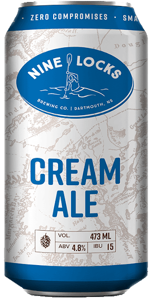 A product image for Nine Locks Cream Ale