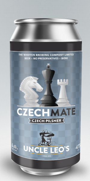 A product image for Uncle Leo's Czech Mate Pilsner