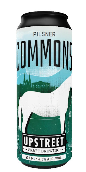 A product image for Upstreet Commons Pilsner