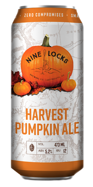 A product image for Nine Locks Harvest Pumpkin Ale