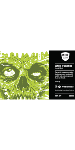 A product image for Indie Alehouse Zombie Apocalypse Imperial Stout