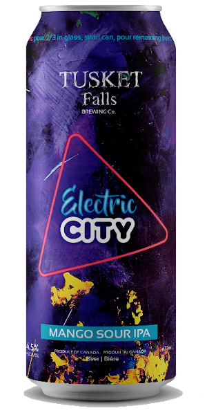 A product image for Tusket Falls Electric City Sour Mango IPA