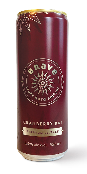 A product image for Brave Cranberry Bay Craft Seltzer 4pk