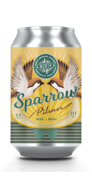 A product image for North Sparrow Pilsner 6pk