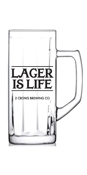 A product image for Lager Is Life Glass Stein