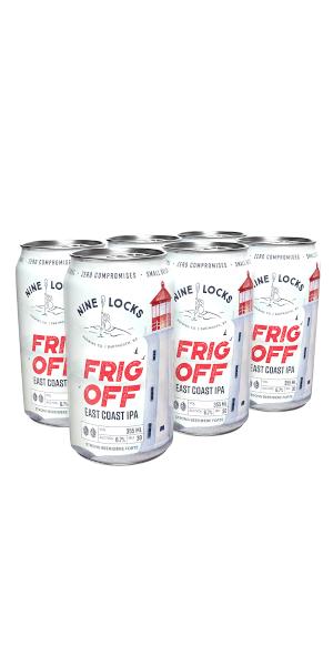 A product image for Nine Locks Frig Off IPA 6pk