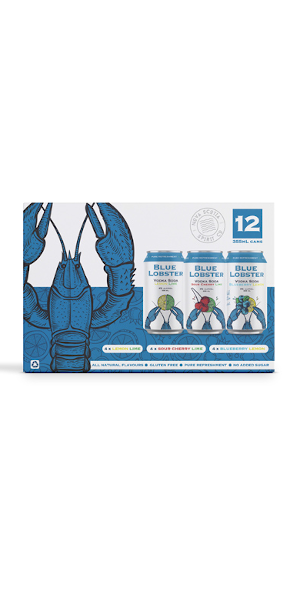 A product image for NS Spirit Co Blue Lobster SODA MIX PACK 12x355ml